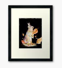 Autumn Rabbit Framed Print