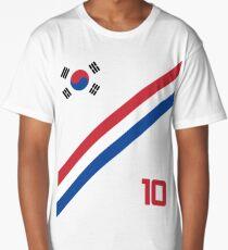South Korea World Cup Soccer Short-Sleeve T-Shirt Football Korean Style Shirt Seoul Flag BTS Tae Kwon Do KPOP K-POP Long T-Shirt