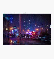 Bladerunner Style Neon Urban City Oil Photographic Print