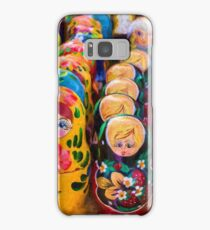 Traditional Russian matryoshka Nesting Puzzle Dolls Samsung Galaxy Case/Skin