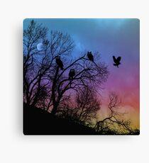 Night Wisdom - Colorful Canvas Print