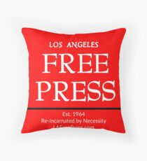 Los Angeles Free Press Red Pillow Throw Pillow