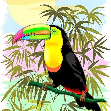 Toucan Wild Bird from Amazon Rainforest by BluedarkArt