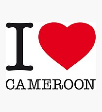 I ♥ CAMEROON Photographic Print