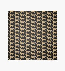 Golden Retriever Silhouette | Golden Glitter Dogs Scarf