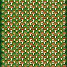santa's little helper wrapping paper by glitchpop