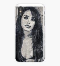 Aaliyah Geometric Art Print iPhone Case/Skin