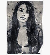 Aaliyah Geometric Art Print Poster