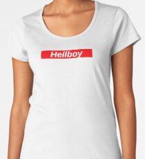 Hellboy // Red Box Logo Women's Premium T-Shirt