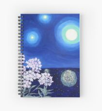 Stars and Flowers Spiral Notebook