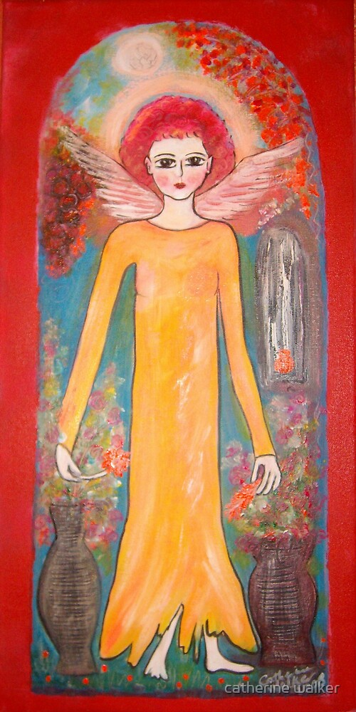 Angel with Grapes by catherine walker