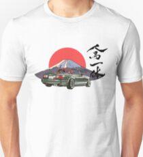 Mazda Miata / Mx5 - Jinba Ittai Berg Fuji Ausgabe Slim Fit T-Shirt