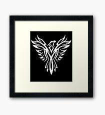 Mythical Phoenix T-Shirt Bird Rise From Ashes Graphic Tee T-Shirt Framed Print