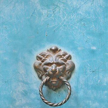 Vintage Lion Door Knocker by chuckirina