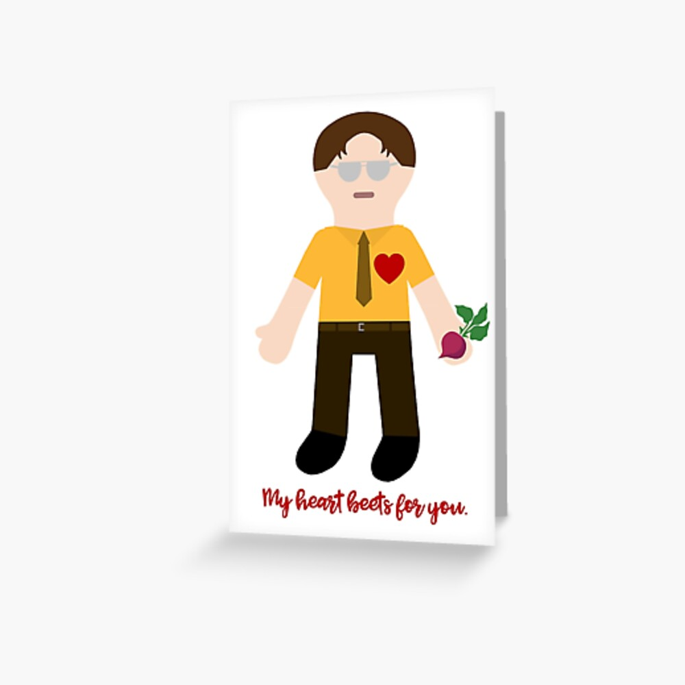 My heart beets for you. Greeting Card