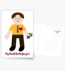 Mein Herz Rüben für dich. Postkarten