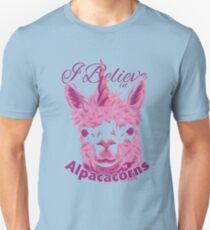 Funny Alpaca Unicorn Alpacacorn Slim Fit T-Shirt