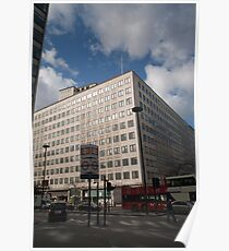Shell building in York Road London Poster