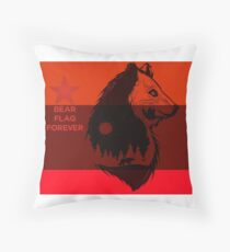 bear flag forever Throw Pillow