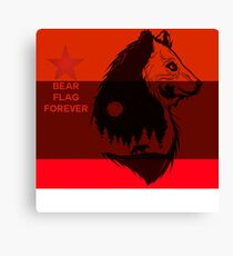 bear flag forever Canvas Print