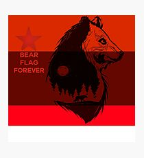 bear flag forever Photographic Print