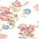 bohemian country shabby chic watercolor pink floral by lfang77