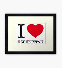 I ♥ UZBEKISTAN Framed Print