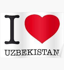 I ♥ UZBEKISTAN Poster
