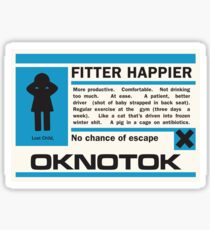 Radiohead -  Ok Computer - Fitter Happier Sticker