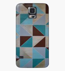 Brown Blue Teal Chevron Geometric Case/Skin for Samsung Galaxy
