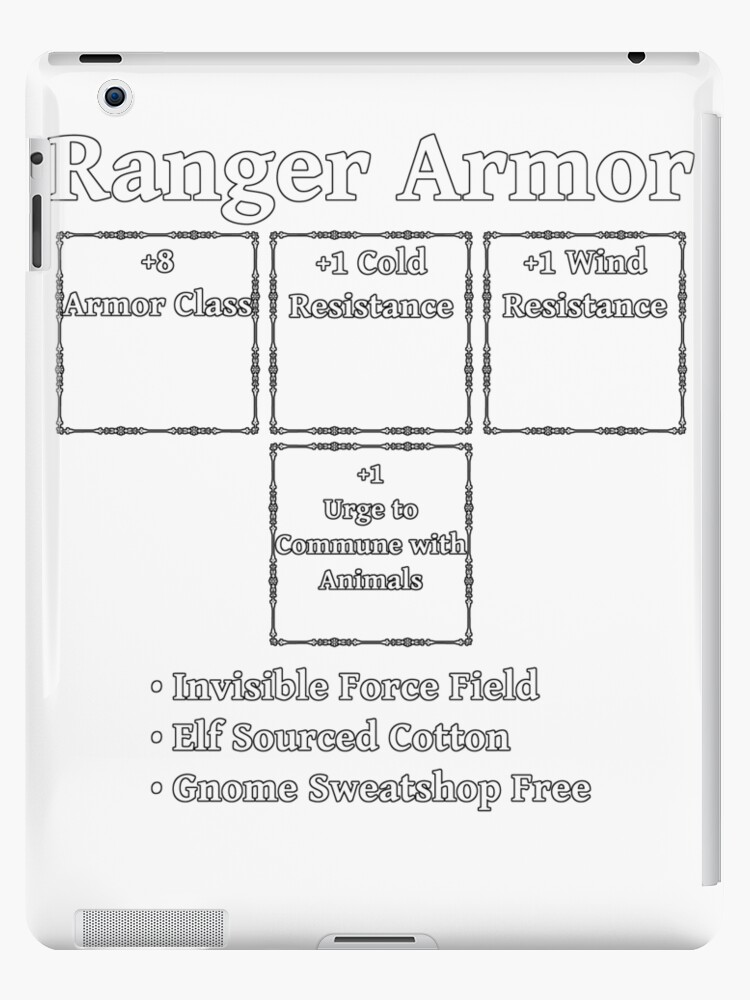 'Ranger Armor: Role Playing DND 5e Pathfinder RPG Tabletop RNG' iPad  Case/Skin by geekydesigner