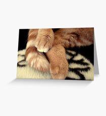 Tigger Feets Greeting Card