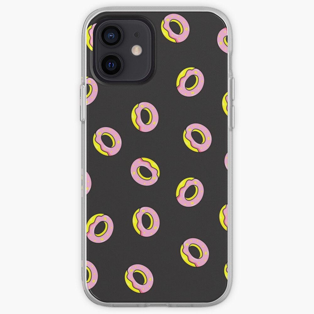 Donuts on Black iPhone Case & Cover