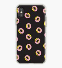 Donuts on Black iPhone Case
