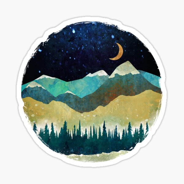 Snowy Night Sticker