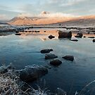 Frozen Black Mount Scotland Landscape by Mark Greenwood