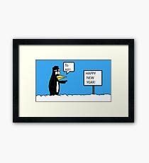 A Wishing Penguin Framed Print