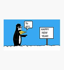 A Wishing Penguin Photographic Print