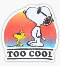 Snoopy too cool Sticker