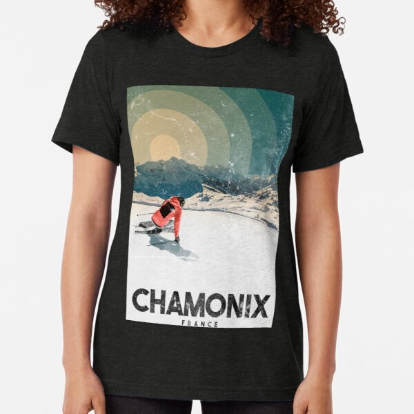 Chamonix - France Tri-blend T-Shirt