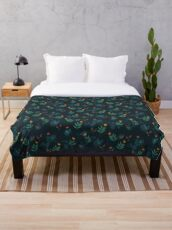Midnight florals - 01 Throw Blanket