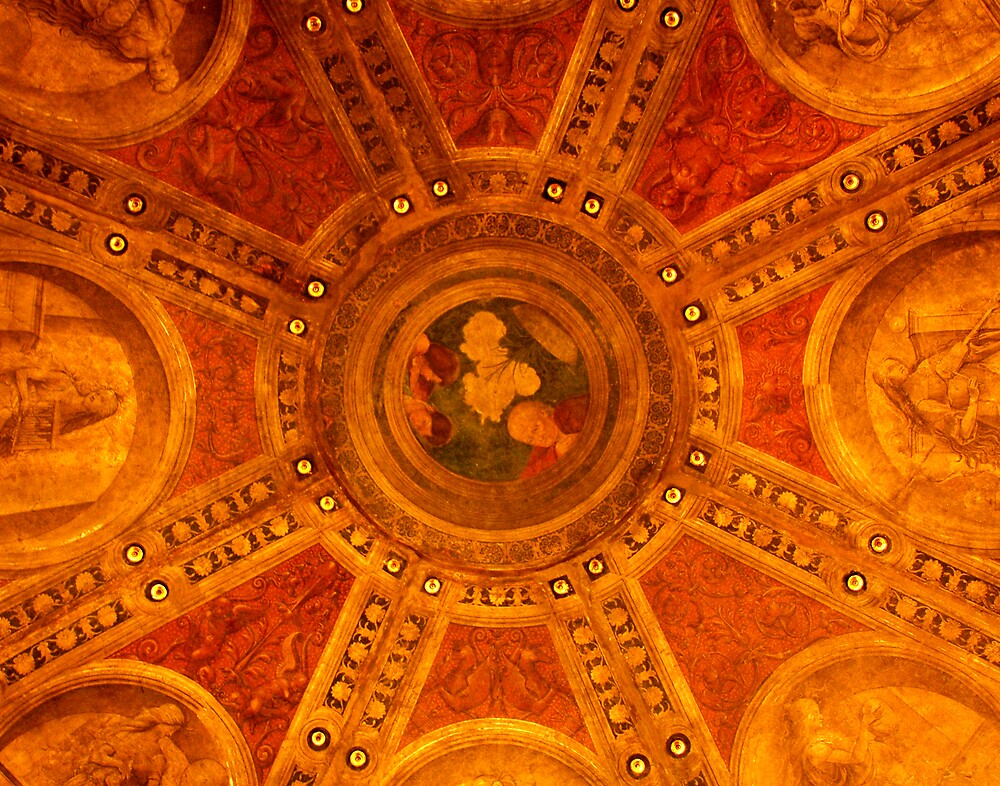 Ceiling in Victoria & Albert Museum, London by Colin Leal