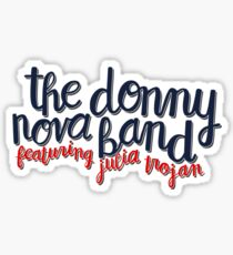 Donny Nova Band Script Sticker