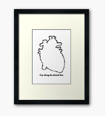 Cut out my heart Framed Print