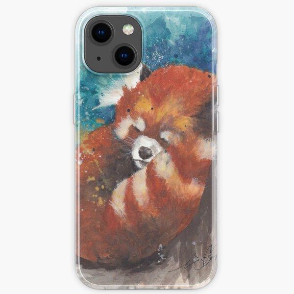 Red Panda Sleeping iPhone Soft Case