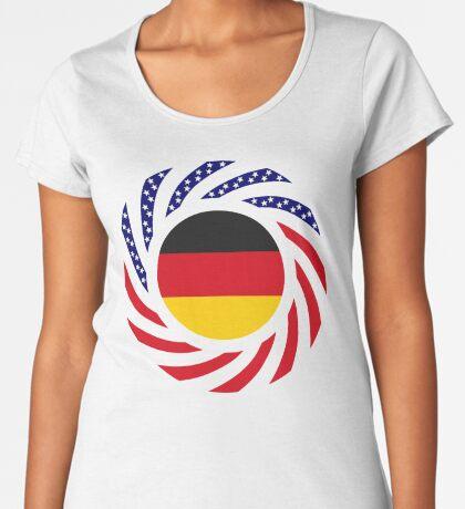 German American Multinational Patriot Flag Series Premium Scoop T-Shirt