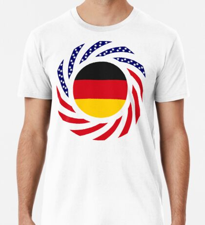 German American Multinational Patriot Flag Series Premium T-Shirt
