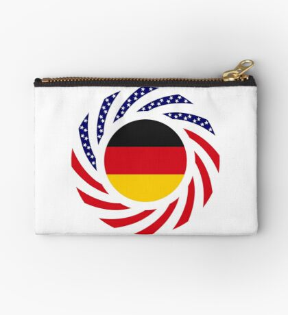 German American Multinational Patriot Flag Series Zipper Pouch