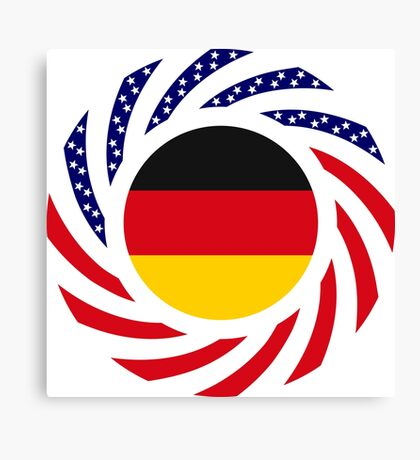 German American Multinational Patriot Flag Series Canvas Print