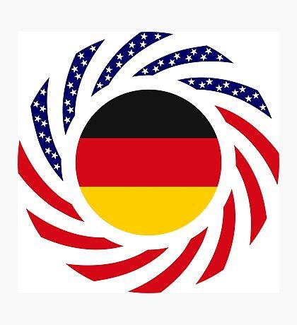 German American Multinational Patriot Flag Series Photographic Print